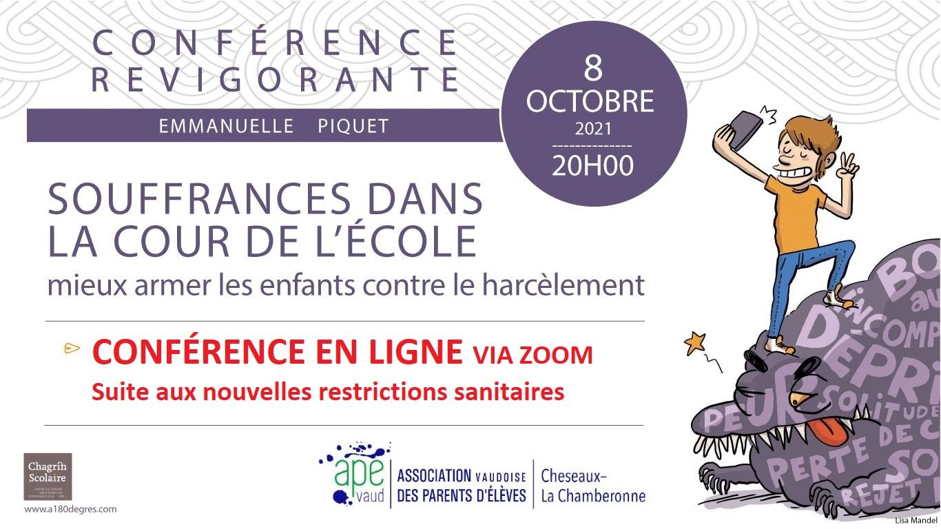 Conférence : Souffrances dans la cour de l'école, mieux armer les enfants contre le harcèlement
